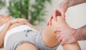 knee pain being treated in stoke clinic